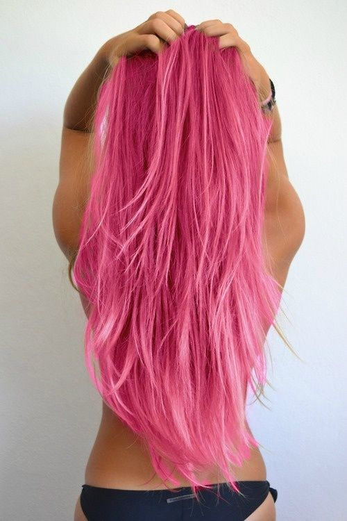 pink hair hottie