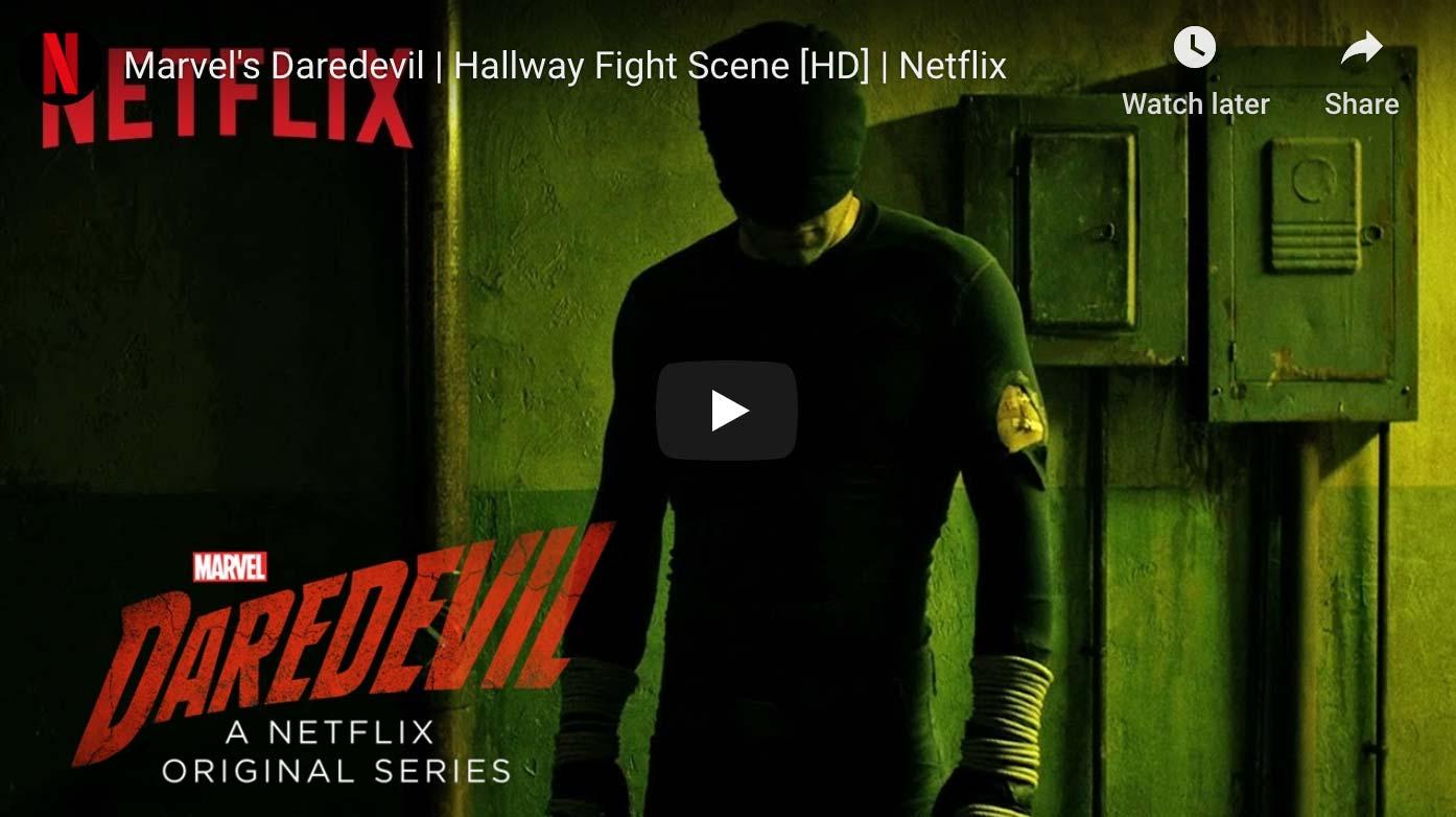 Daredevil Hallway Justice scene