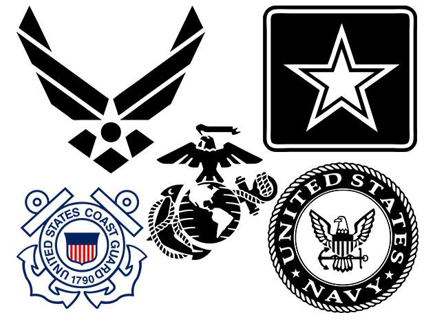 Military vector logos