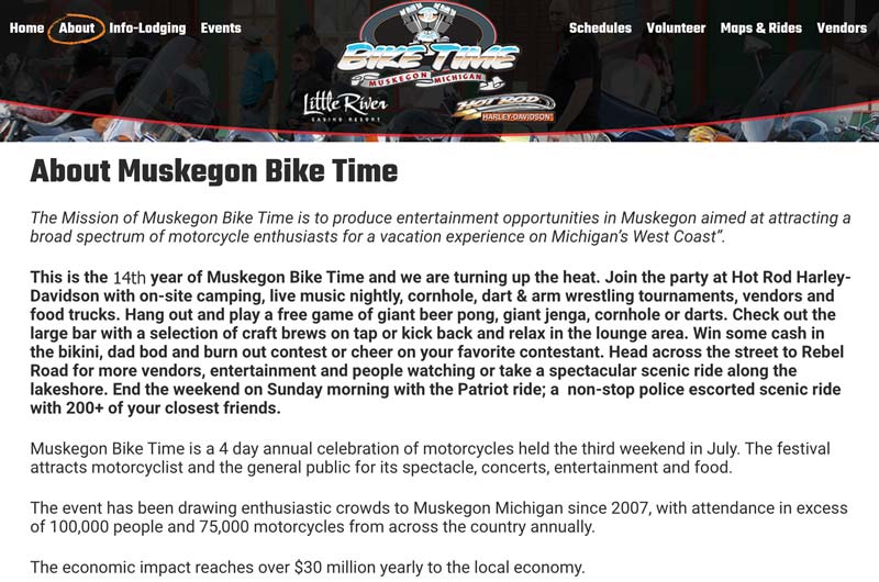 Muskegon Bike Time 2020