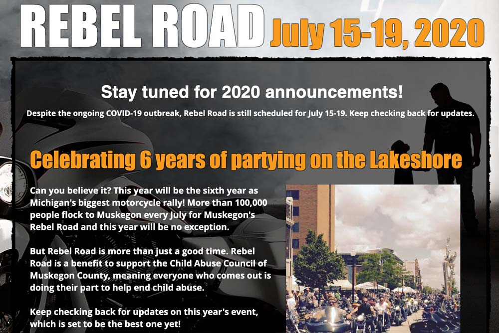 Muskegon's Rebel Road 2020