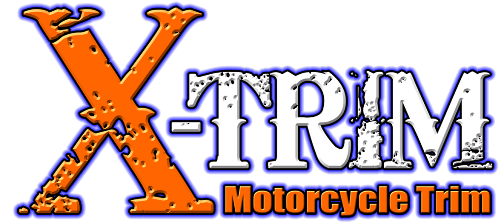 X-trim motorcycle trim logo